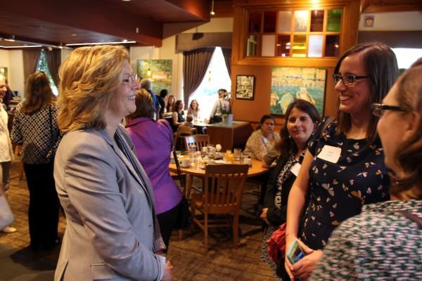 Nancy McFarlane Women Leaders Breakfast at Irregardless Cafe.